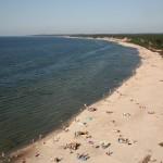 Ustka - widok na plaże